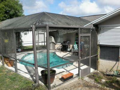 Pool Cage Screen Repair Crystal River B1